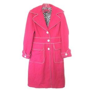 nwt retro mod hot pink Jackie O coat size small